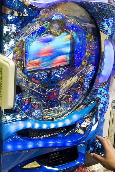 An example of a modern pachinko machine.